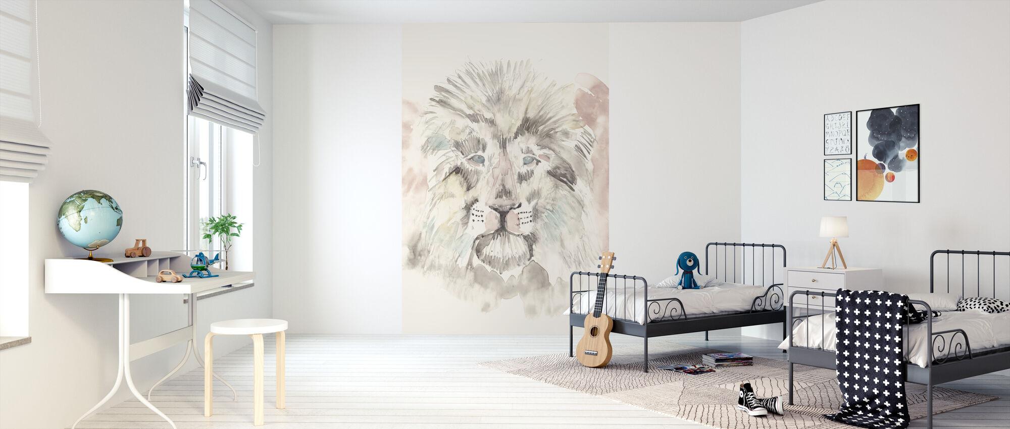 Pastel Safari II - Wallpaper - Kids Room