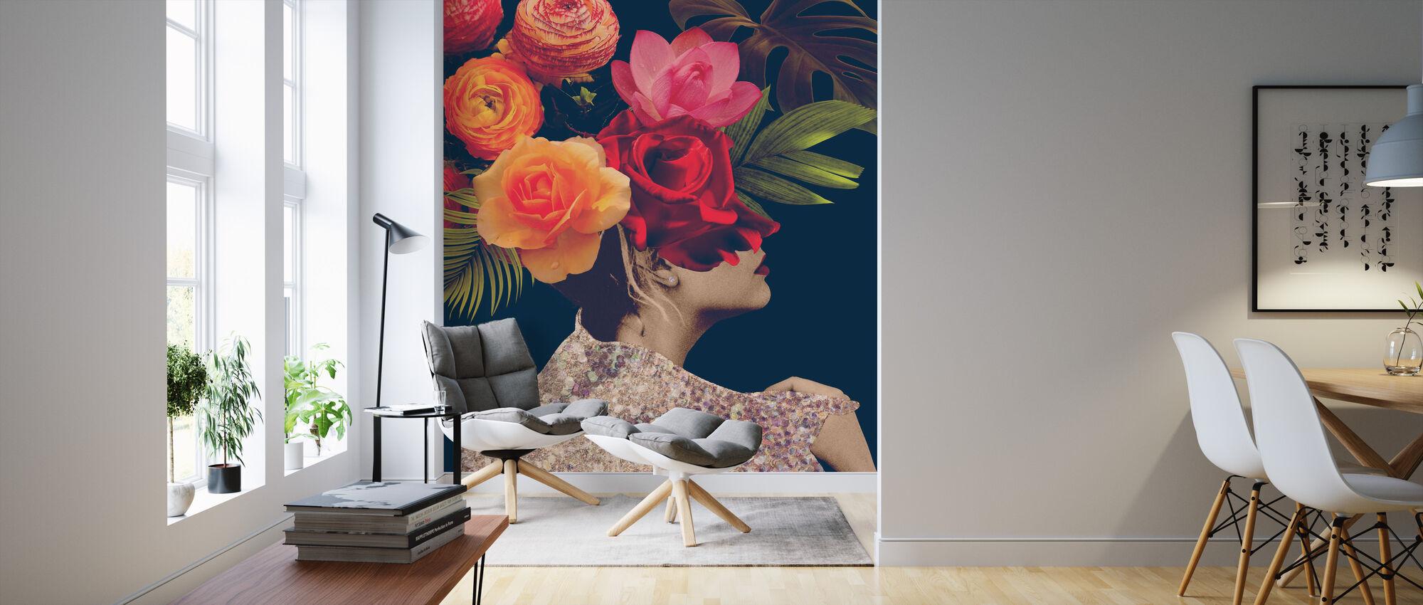 Fleur Collage - Behang - Woonkamer