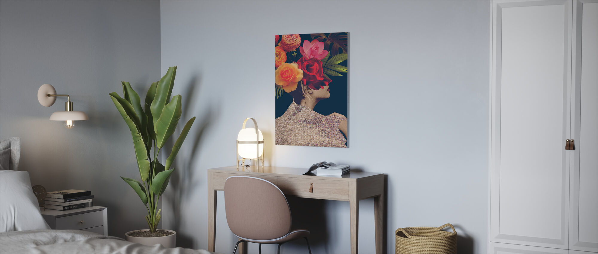 Fleur Collage - Canvas print - Kantoor