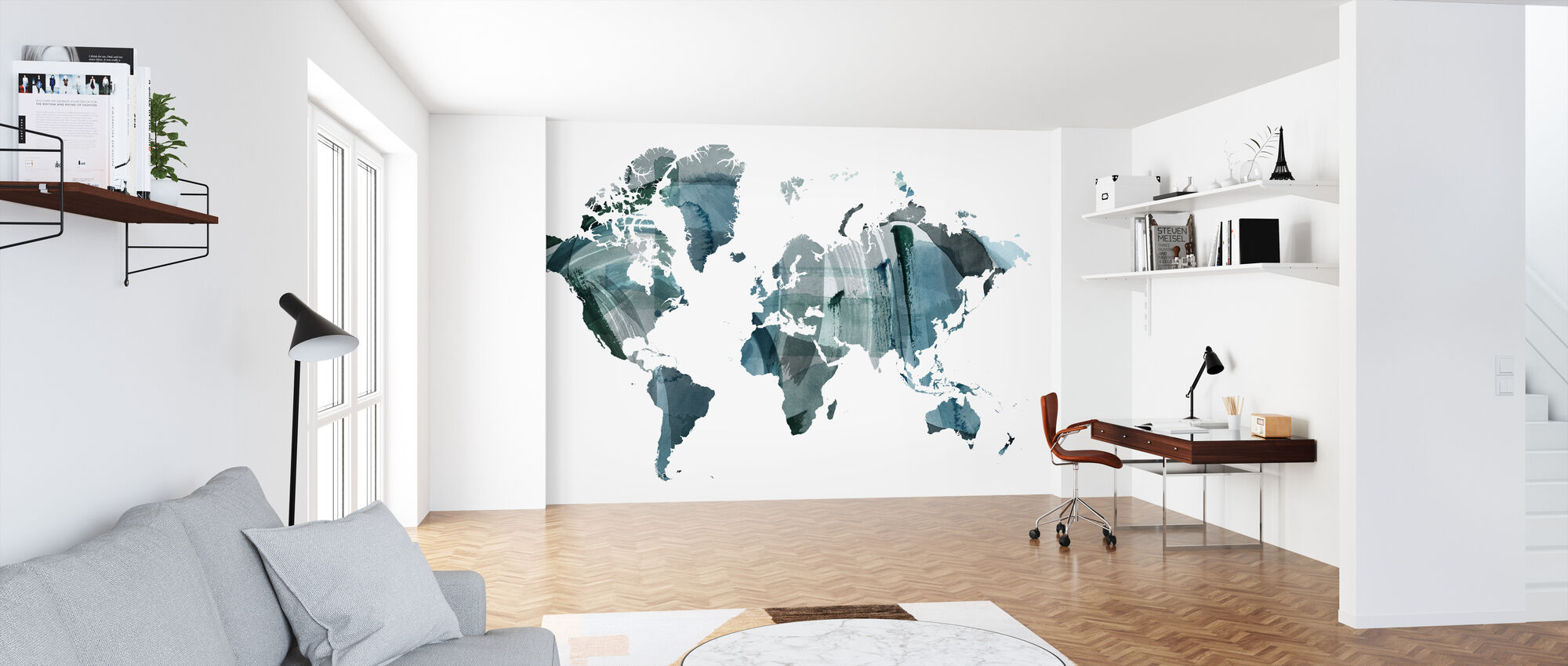 World Wash - Wallpaper - Office