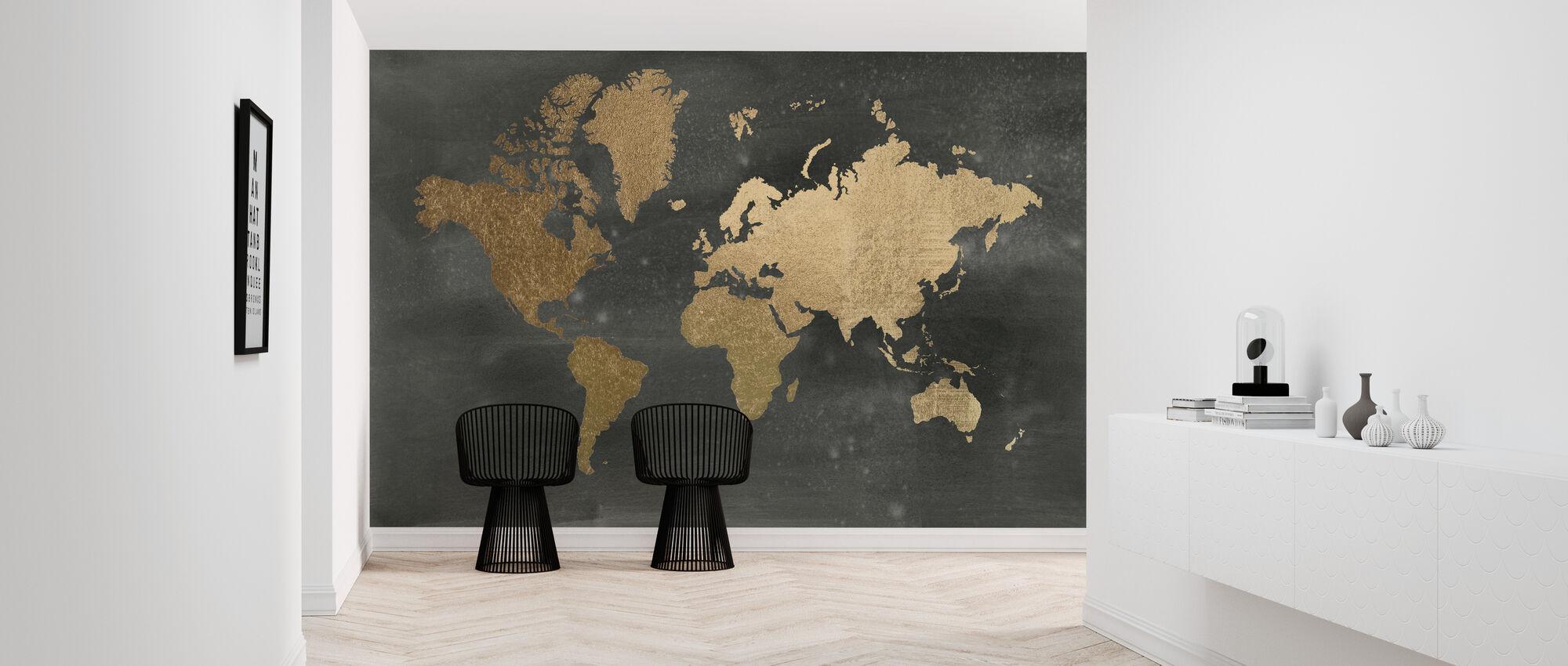 Black Wash -maailmankartta - Tapetti - Aula