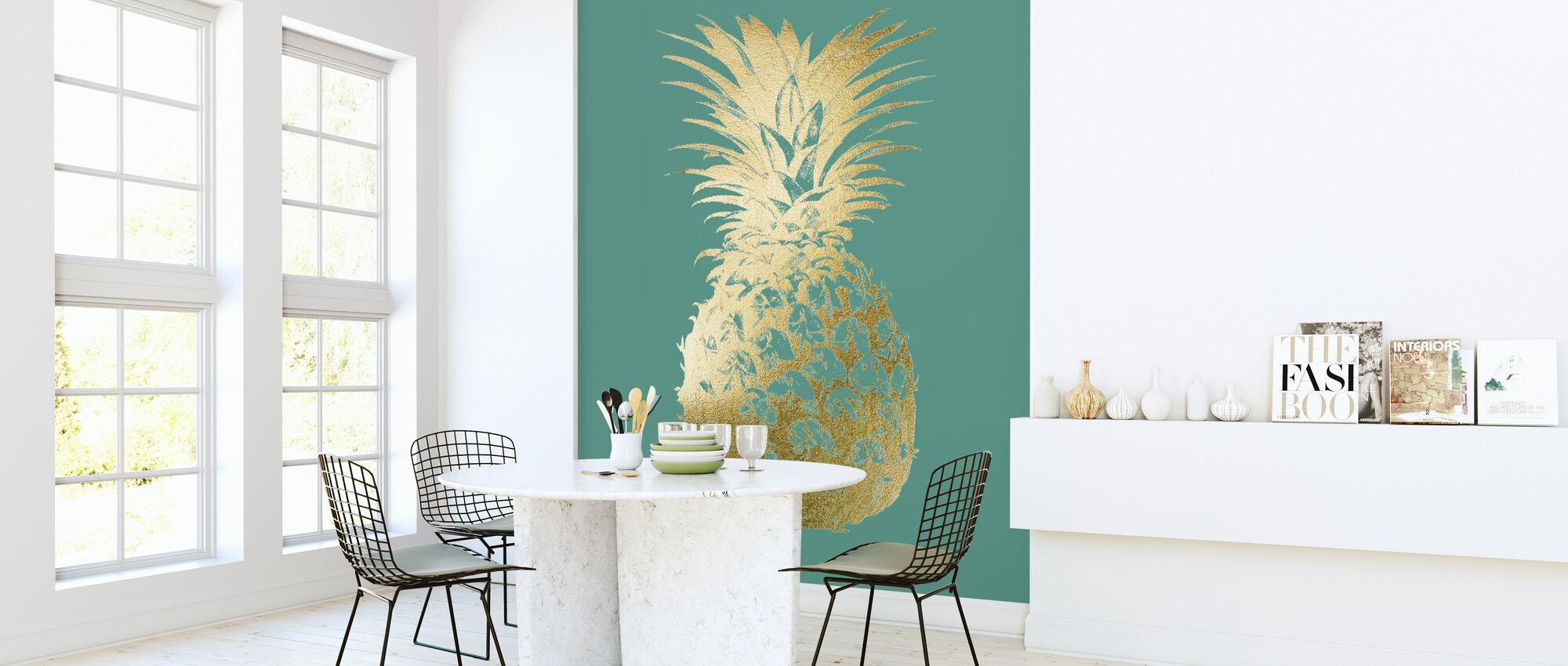 Piña en Esmeralda - Papel pintado - Cocina