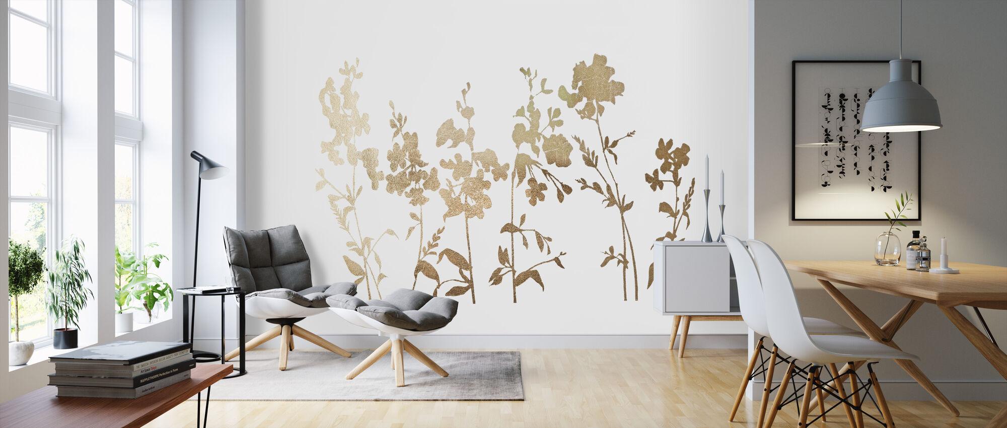 Blumenfeld - Tapete - Wohnzimmer