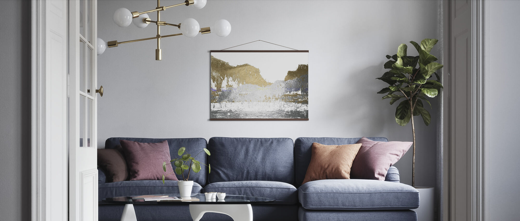 Multi Foil Mountain - Poster - Living Room