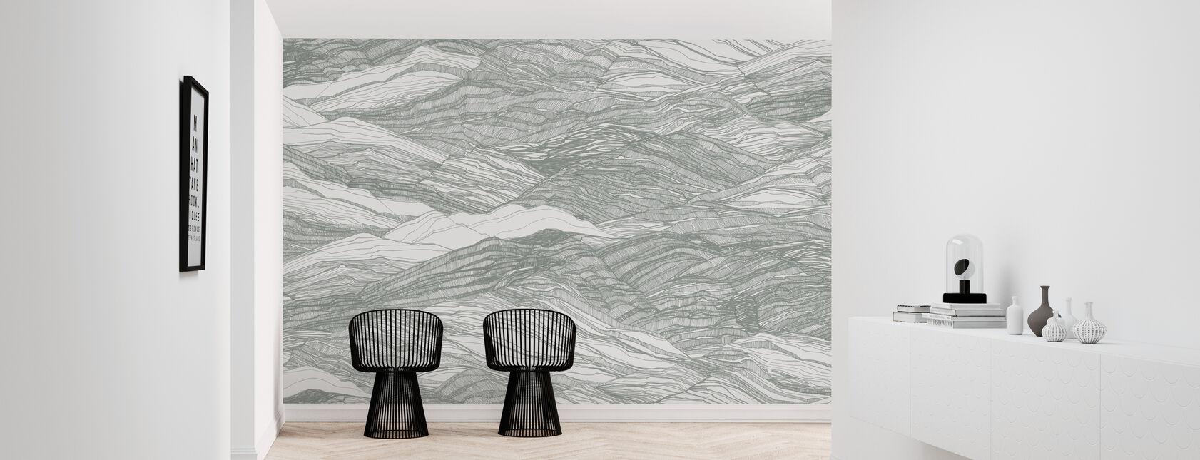 Duna Large - Cactus - Wallpaper - Hallway