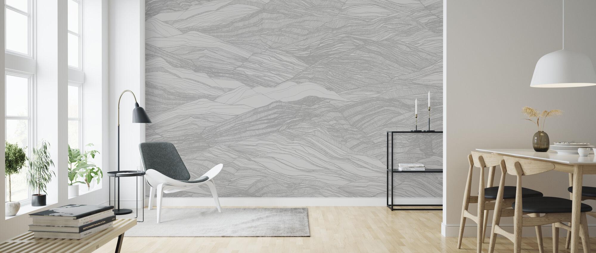Duna Large - Raindrop - Wallpaper - Living Room