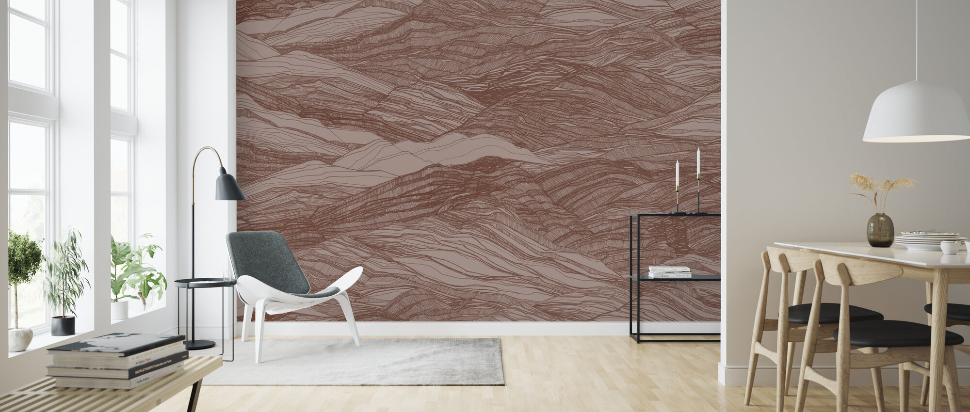 Duna Large - Red Clay - Wallpaper - Living Room