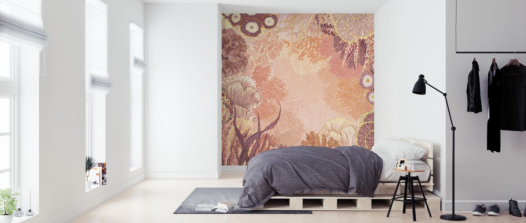 Meren koralli - Tapetti - Makuuhuone