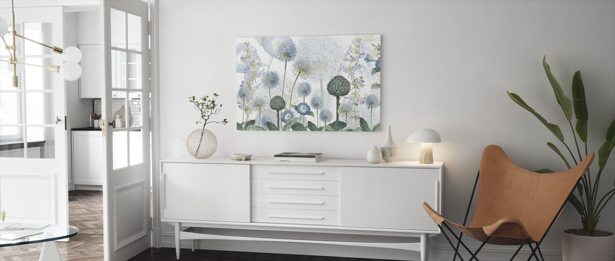 Blauwe Wilde Weide - Canvas print - Woonkamer