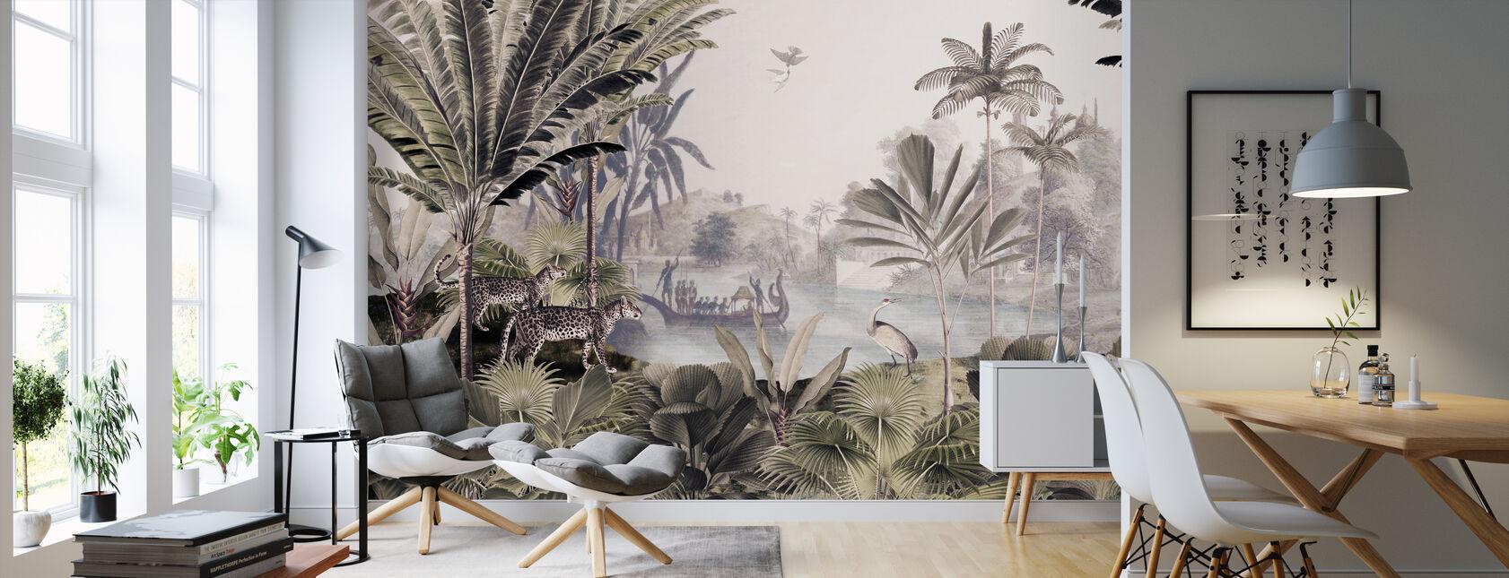 Leopard Landscape - Wallpaper - Living Room