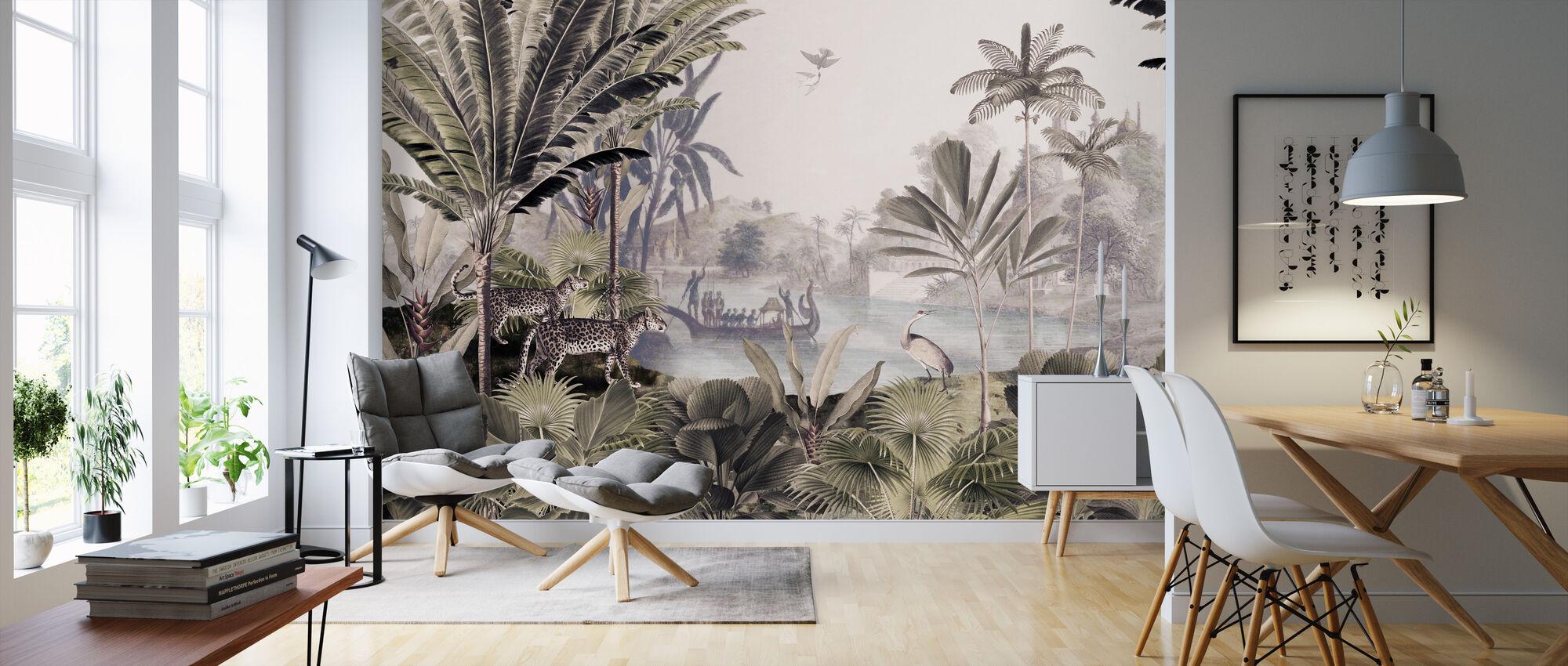 Luipaard landschap - Behang - Woonkamer