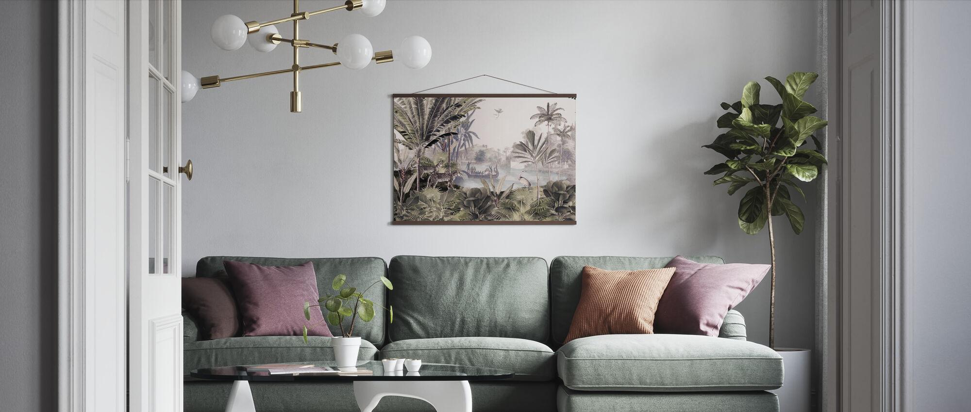 Luipaard landschap - Poster - Woonkamer
