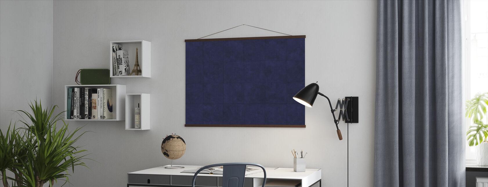 Kupferplatten - Blau - Poster - Büro