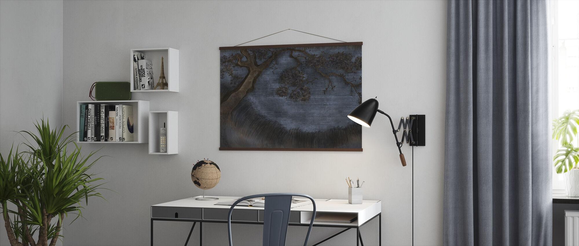 Strålende Treet - Colbalt - Plakat - Kontor