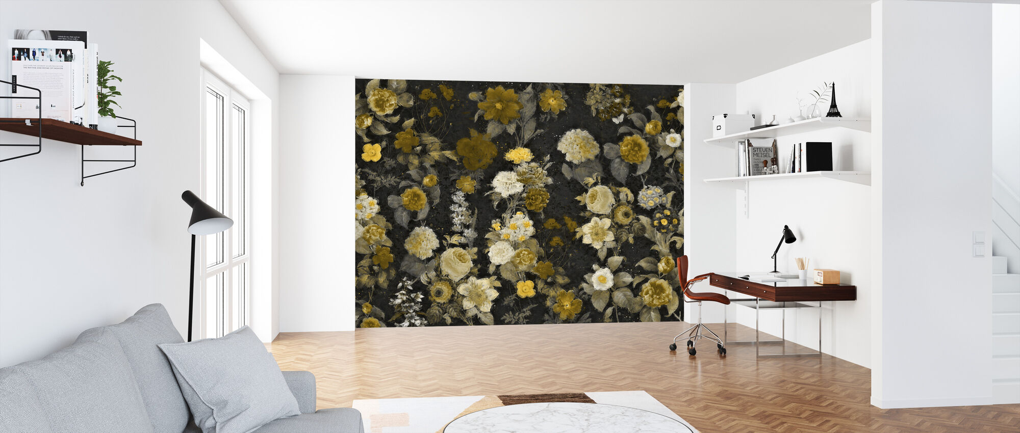 Flower Samba - Camel - Wallpaper - Office