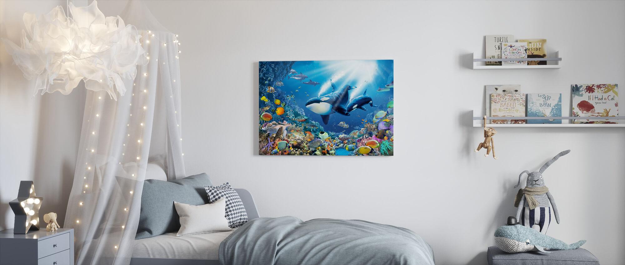 Killer Whales - Canvas print - Kids Room