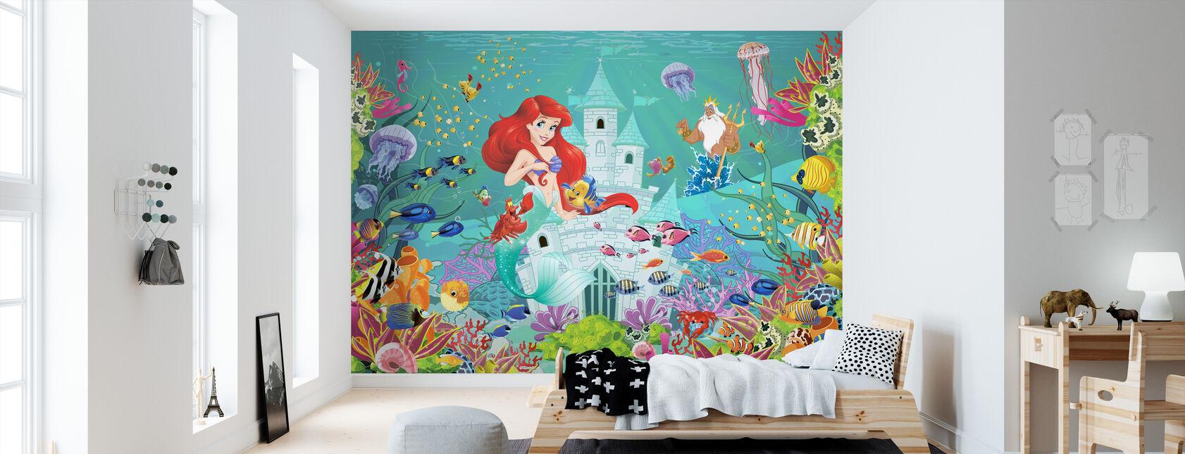 Mermaid Castle - Wallpaper - Kids Room
