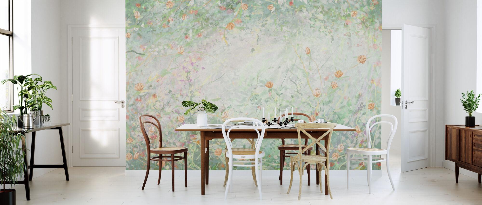 Bentle blomster - Lysegrøn - Tapet - Kjøkken