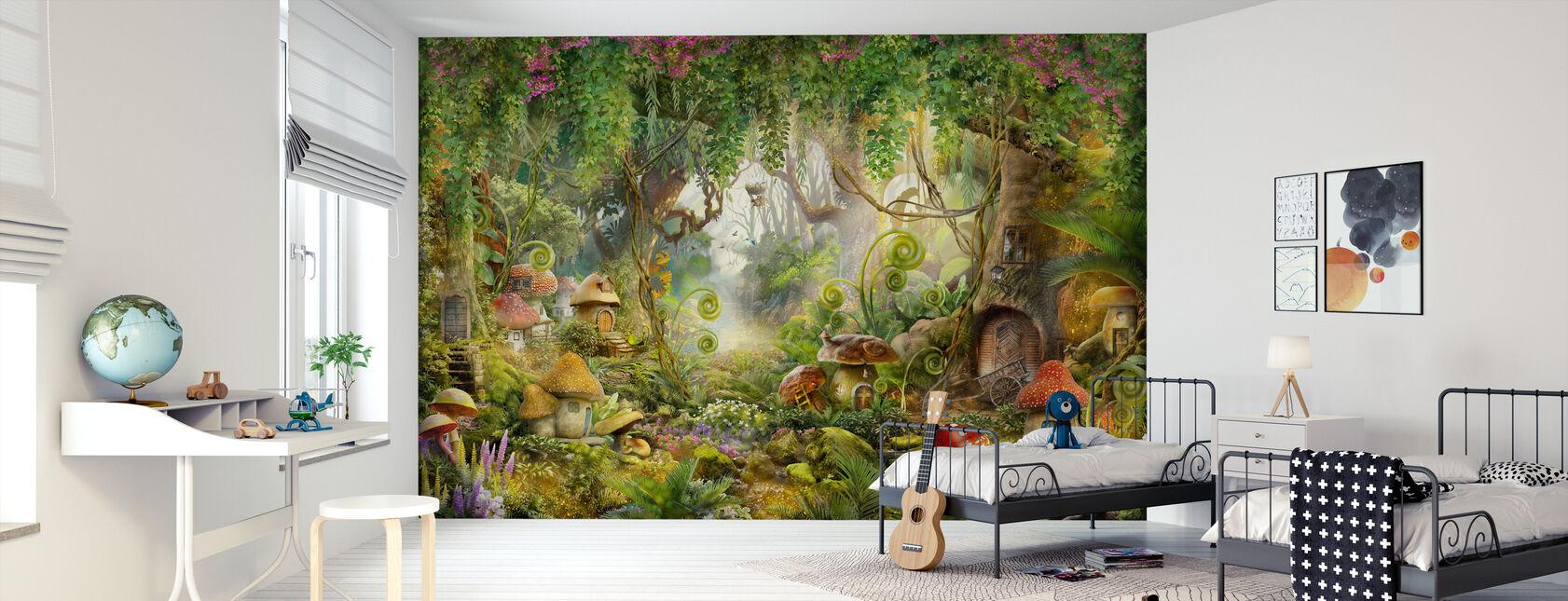 Mushroom Village - Wallpaper - Kids Room