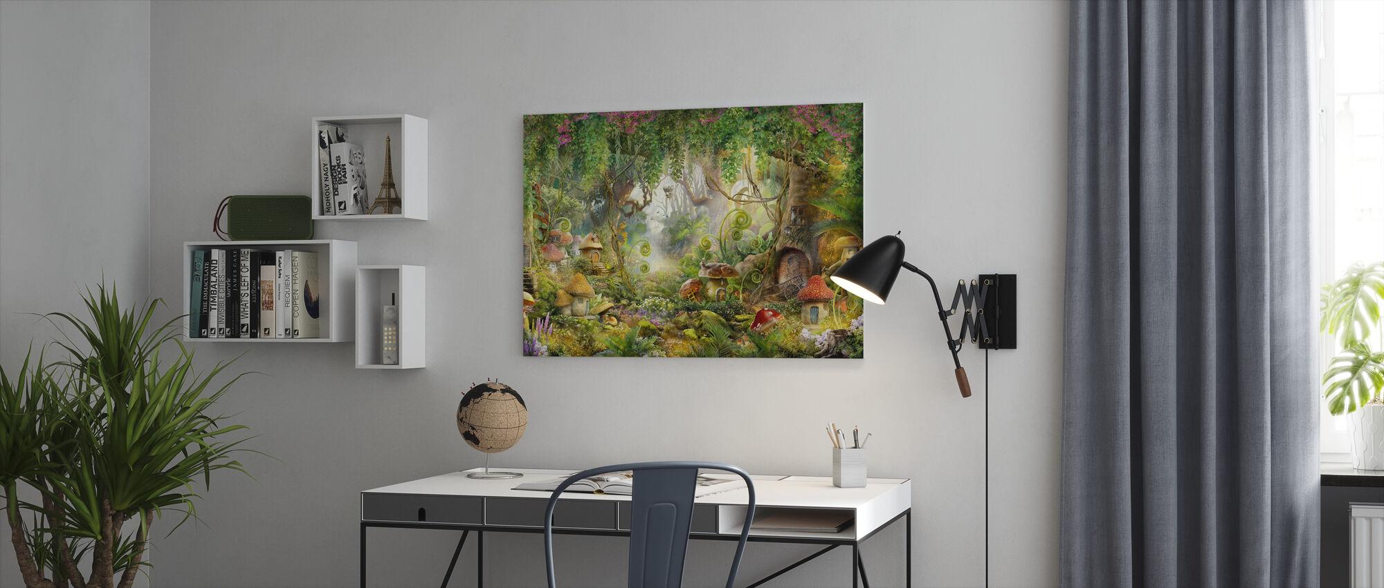 Mushroom Dorp - Canvas print - Kantoor