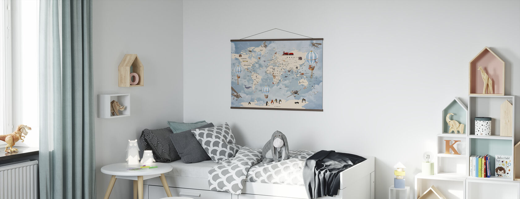 Zwierzęta Strona główna Mapa - Plakat - Pokój dziecięcy
