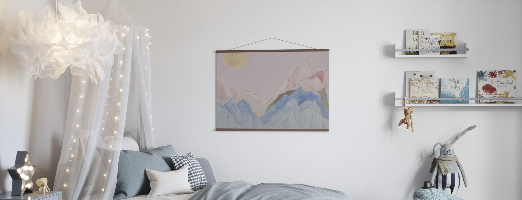 Angularity - Pink - Poster - Kids Room