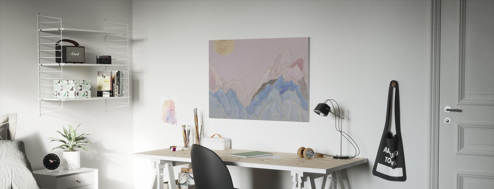 Angularity - Pink - Canvas print - Kids Room