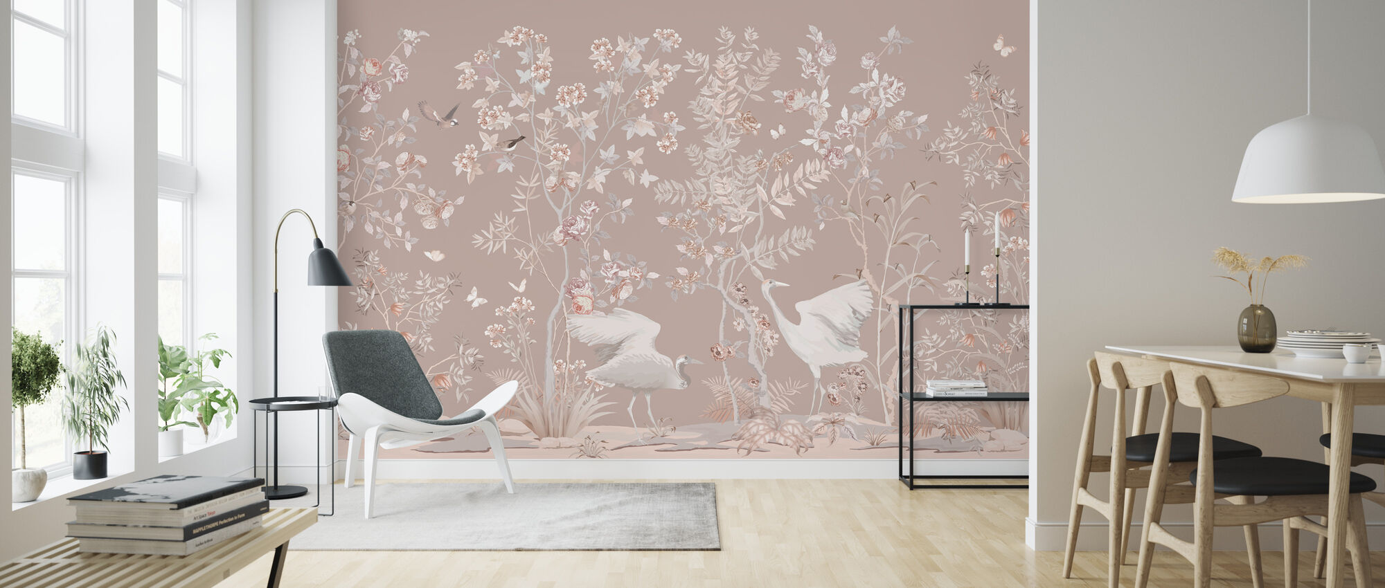 Birds Garden - Wallpaper - Living Room