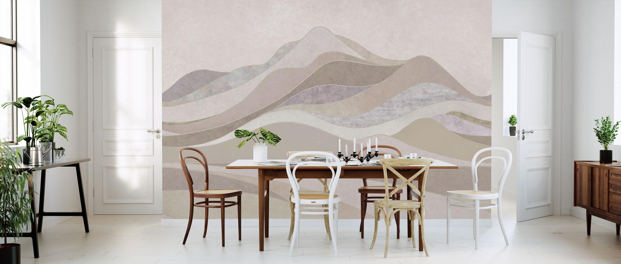 Concord Landscape - Sand - Wallpaper - Kitchen