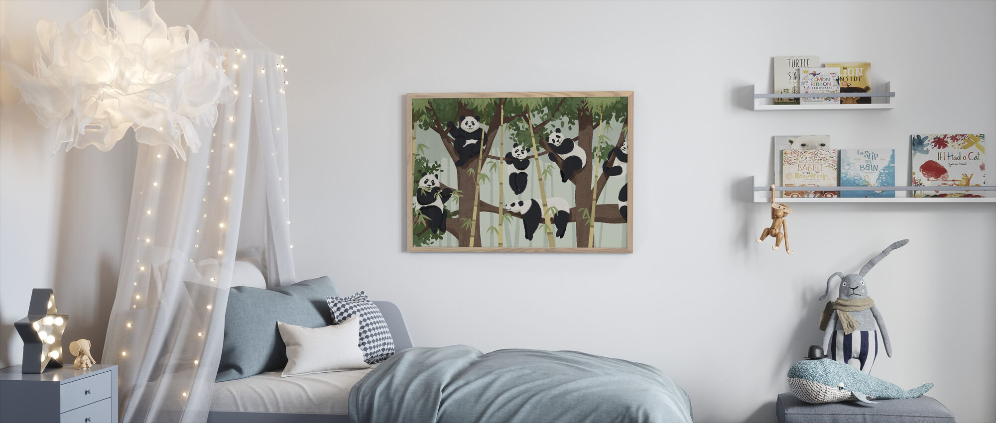Panda Trær - Innrammet bilde - Barnerom