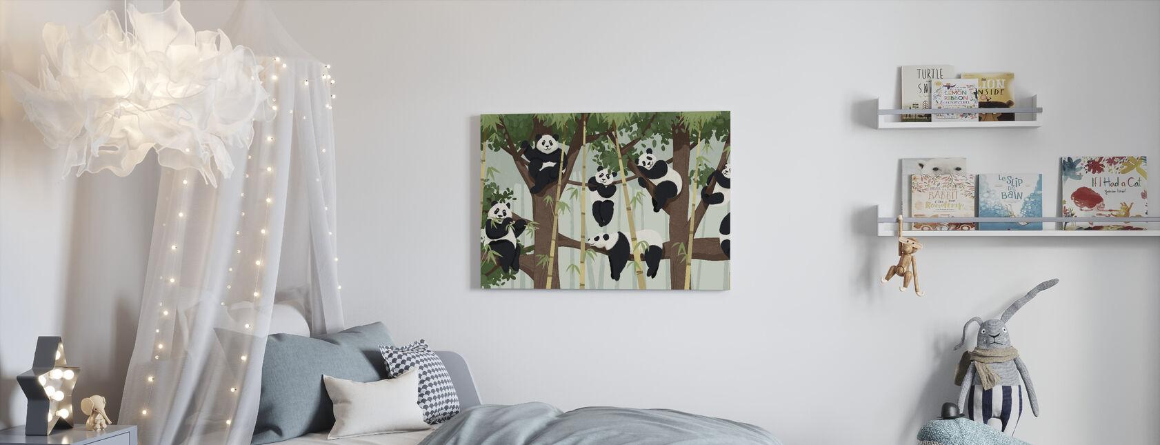 Panda Trees - Canvas print - Kids Room