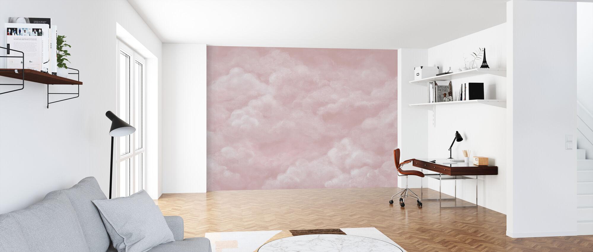 Tarjous pilvet - Pinkki - Tapetti - Toimisto