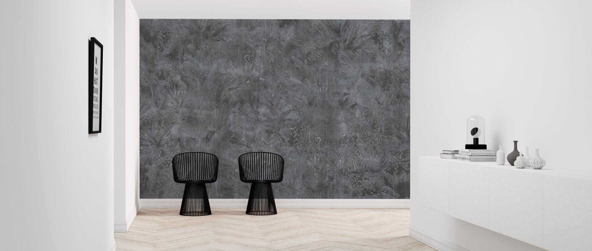 Tropical Panther - Ash - Wallpaper - Hallway