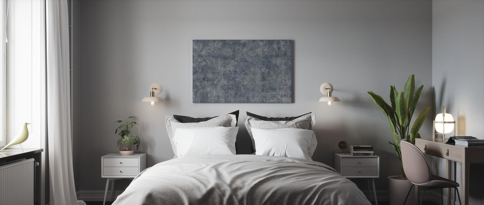Tropical Panther - Indigo Ash - Canvas print - Bedroom
