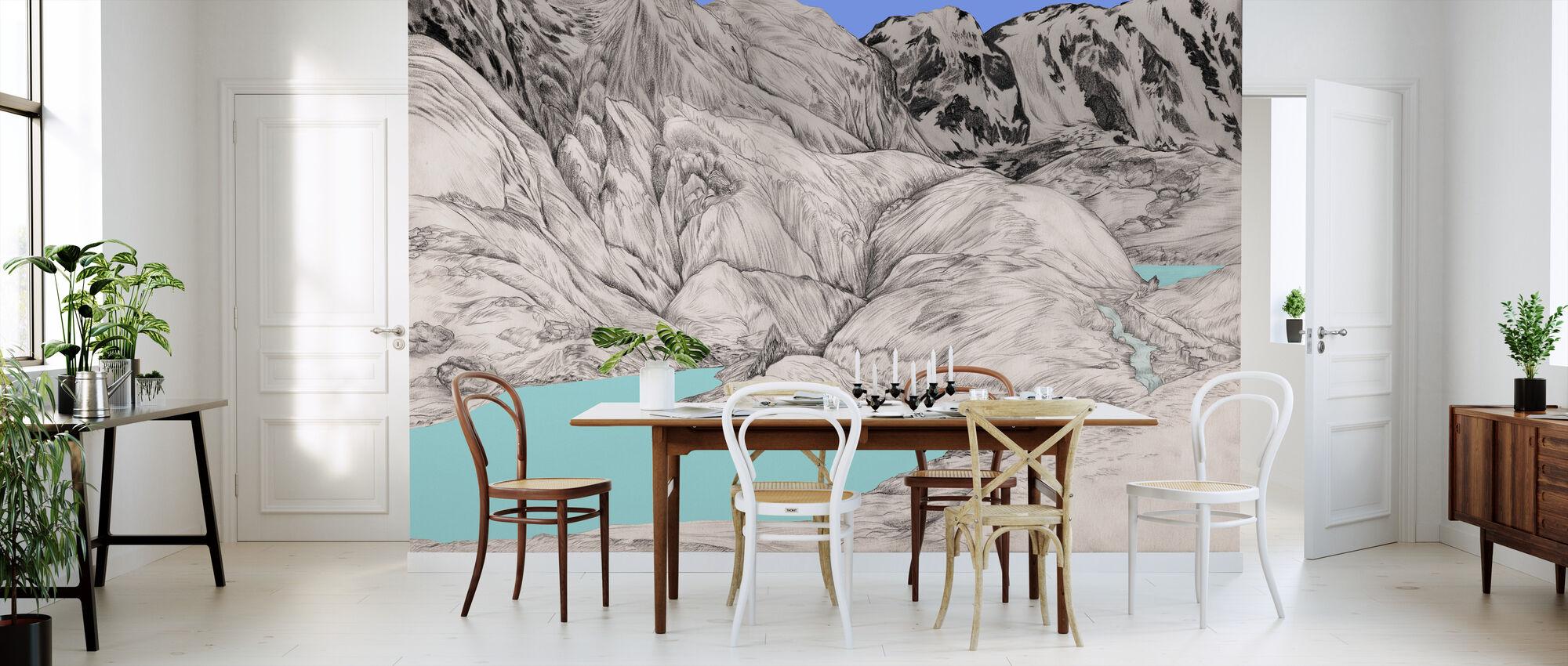 Altay Lake - Wallpaper - Kitchen