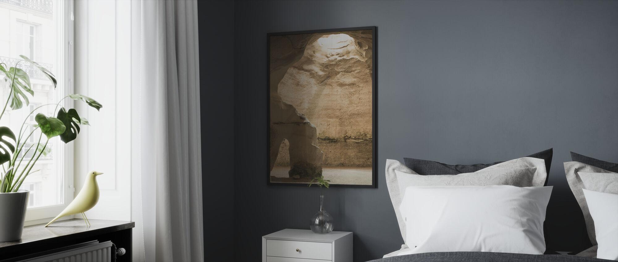 Luolan valo - Kehystetty kuva - Makuuhuone