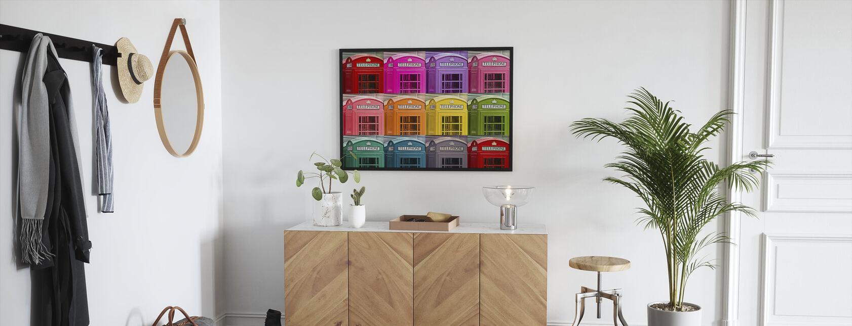 London Telephone Box Set - Framed print - Hallway