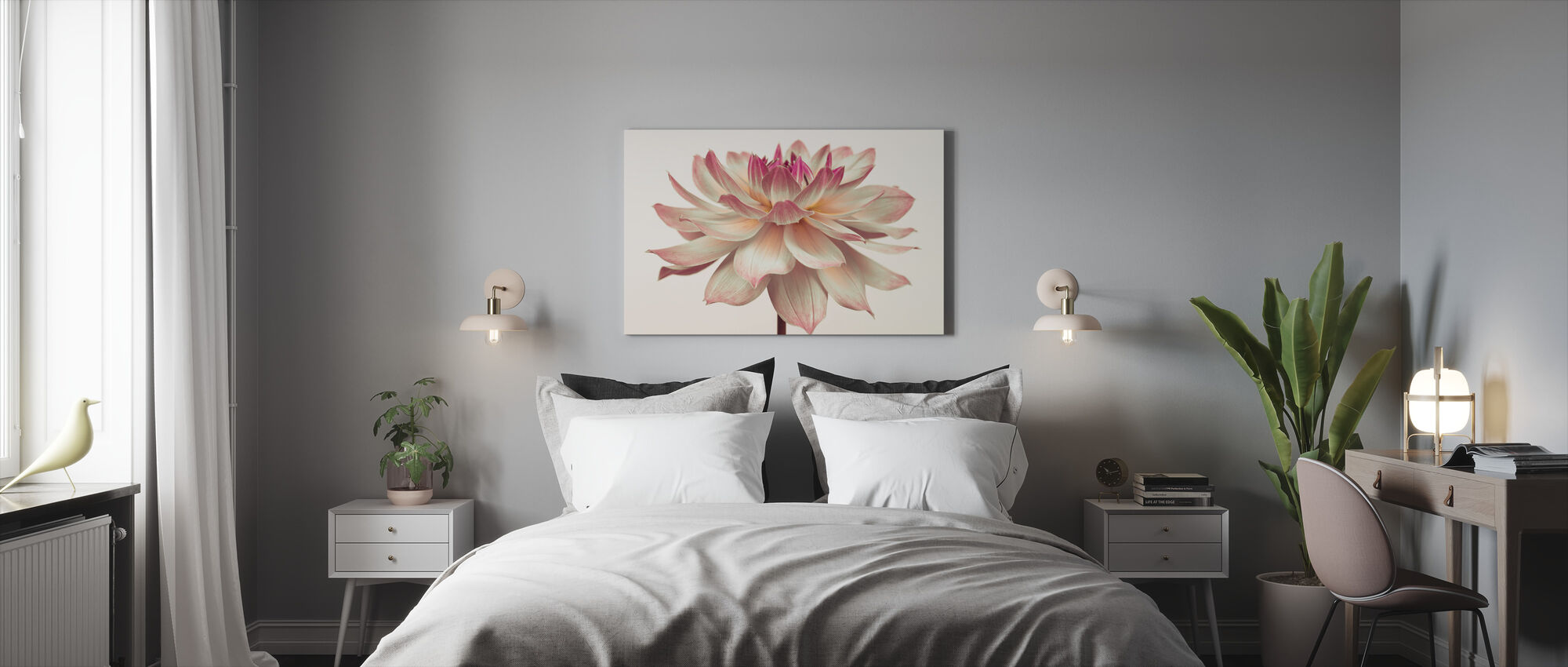 Dahlia Flower - Canvas print - Bedroom