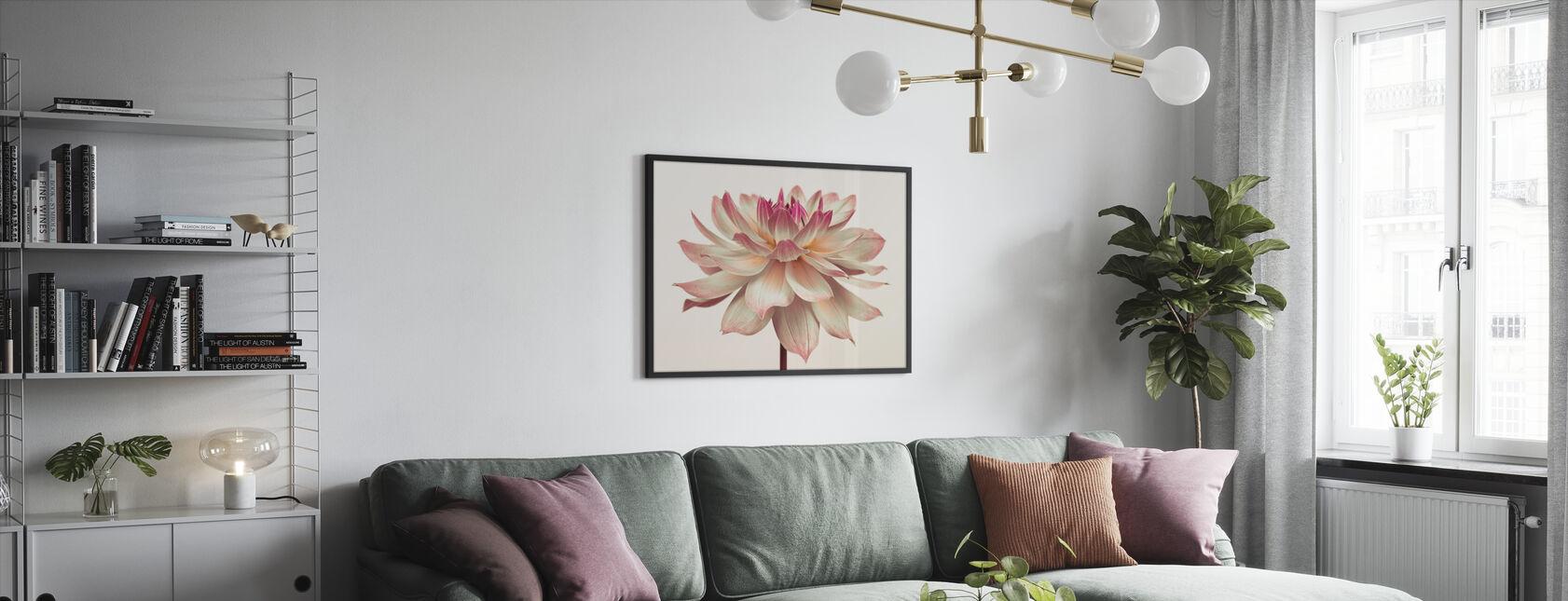 Dahlia Bloem - Ingelijste print - Woonkamer