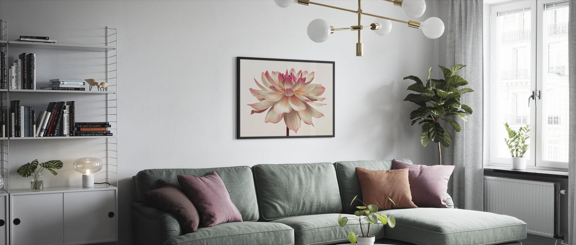 Dahlia Kukka - Kehystetty kuva - Olohuone