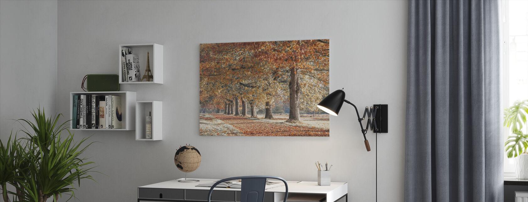 Herfst Pad - Robijn - Canvas print - Kantoor