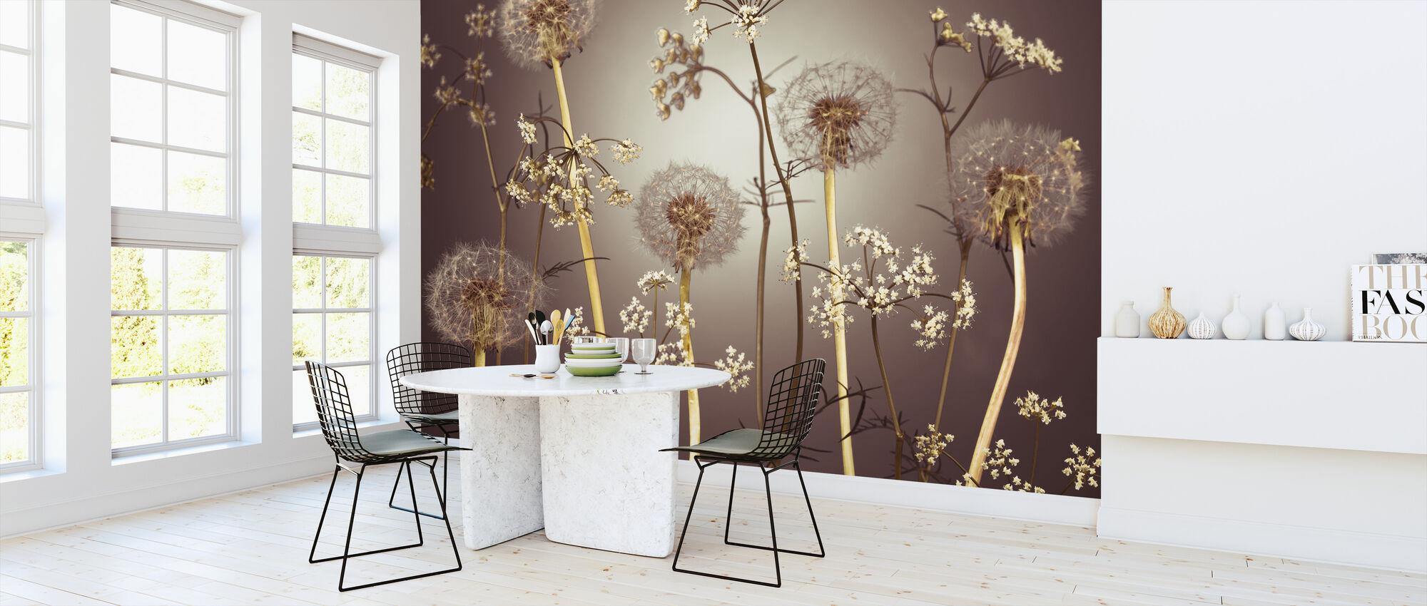 Weide Bloemen - Hazel - Behang - Keuken
