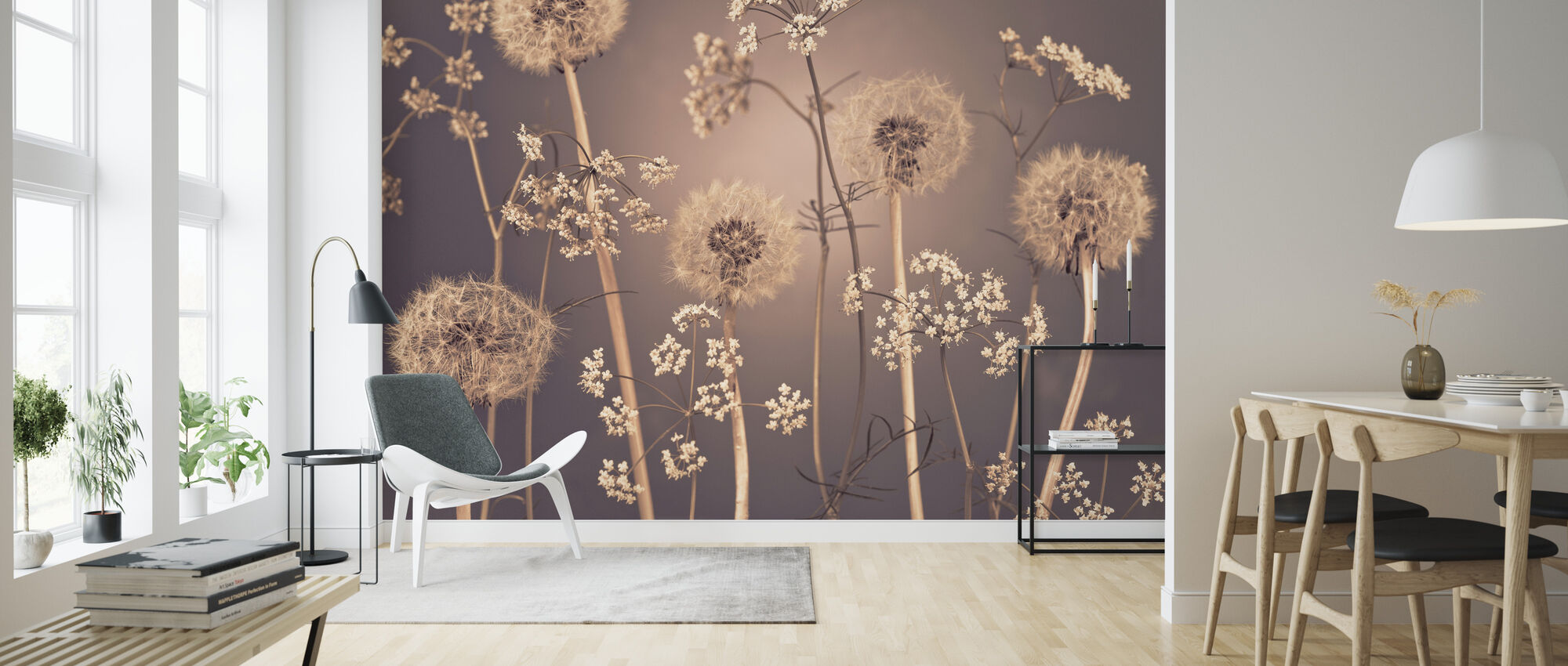 Niitty Kukkia - Tapetti - Olohuone