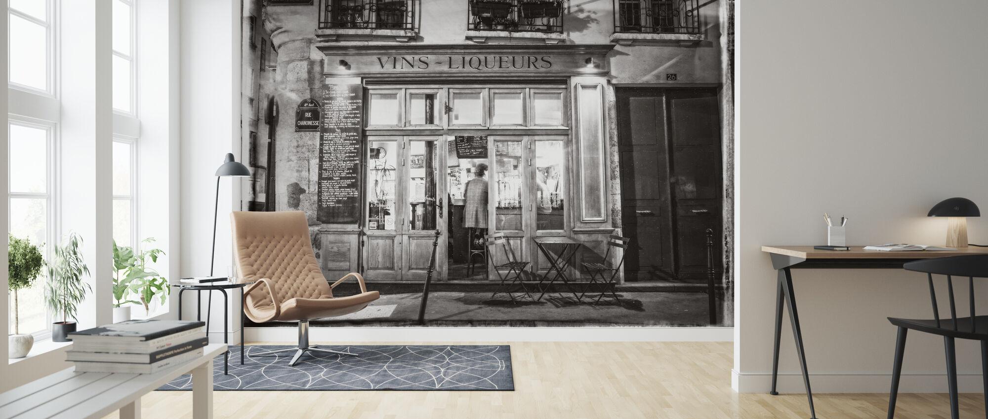 Liquor Store - Paris - Wallpaper - Living Room
