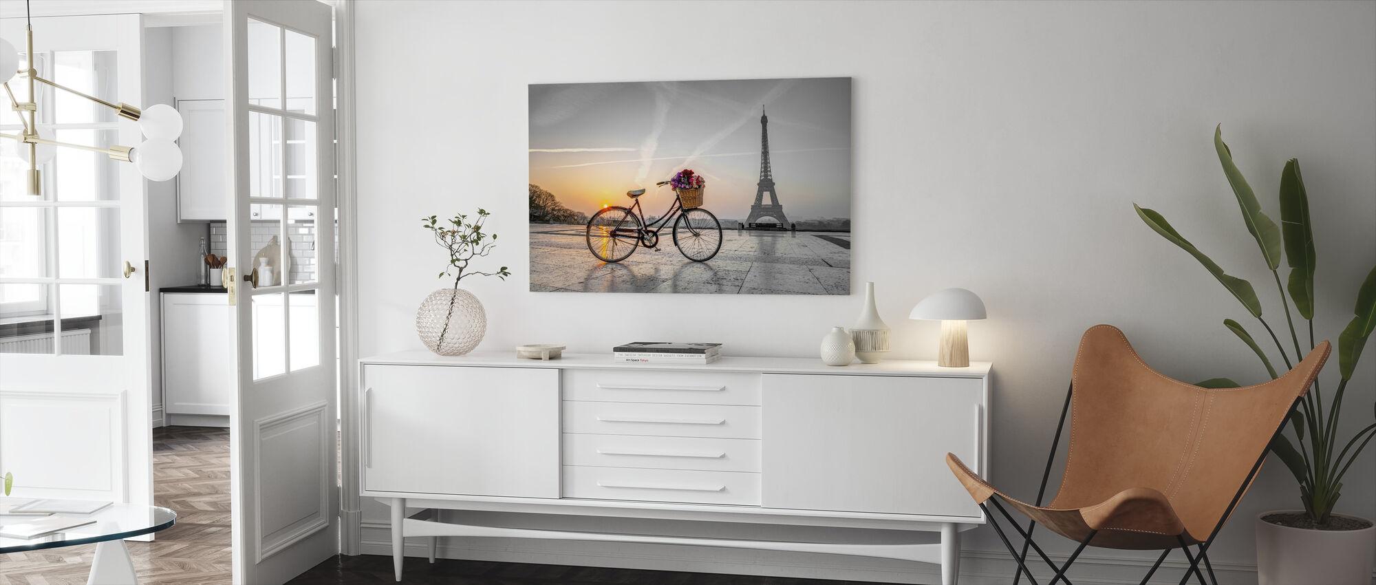 Bicycle Paris - Canvas print - Living Room