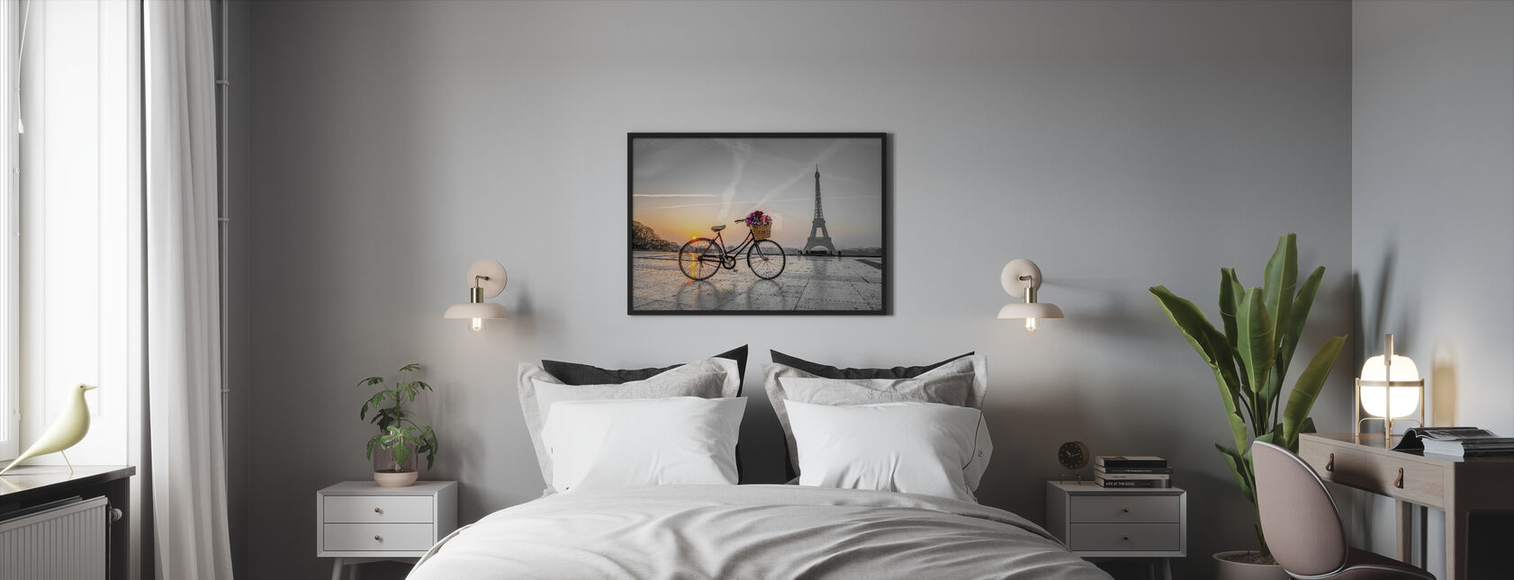 Bicycle Paris - Framed print - Bedroom