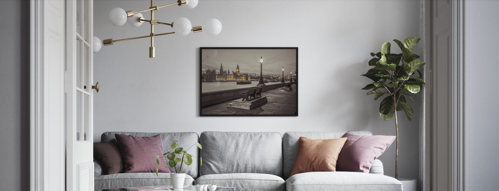 London by Night - Framed print - Living Room