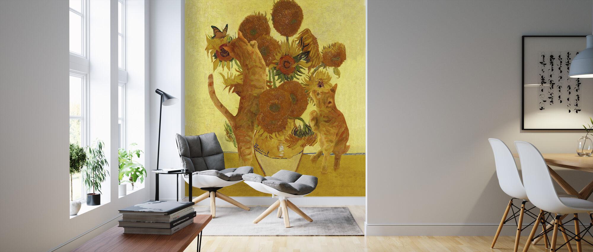 Vangogh Cats - Wallpaper - Living Room