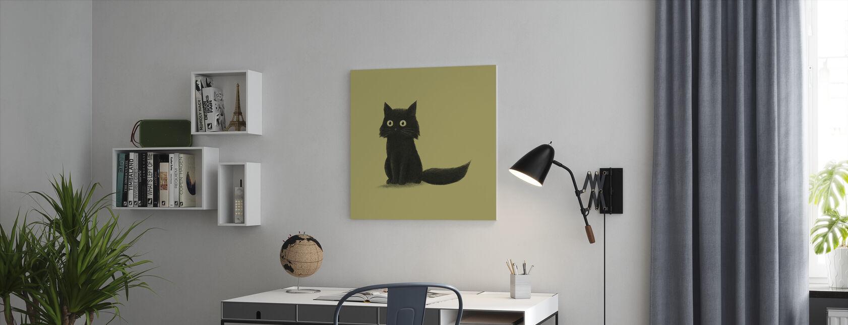 Sitzende Katze - Leinwandbild - Büro