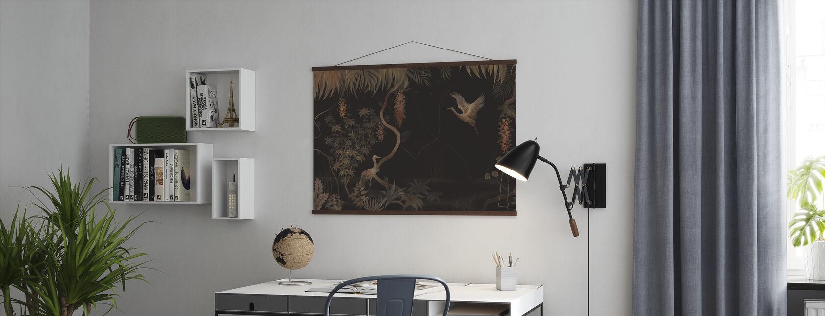 Lugnt landskap - mörk hassel - Poster - Kontor